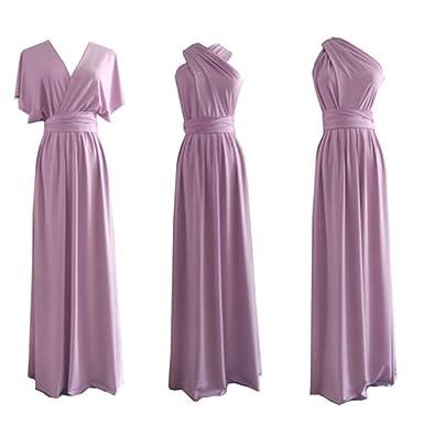 competitive price 8ebf1 e325e Infinity Kleid, Ballkleid, Brautjungfernkleid, Gr. 34-42 violett, lila,  helllila, Wickelkleid lang, 70 verschiedene Wickelarten, convertible dress,  ...