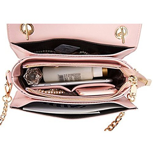 Chain Bag Women's Elegant Classic Fashion Girls Bag Package Party Evening Messenger Mini Shoulder Pink Small tqOaq4xwr