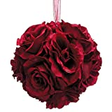 Rose-Kissing-Ball-in-Deep-Red-5