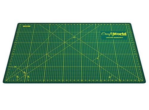 Crafty World Deluxe Cutting Mats - Double Sided Used by Pro Hobbyists - Self Healing Cutting Mat - Doesn