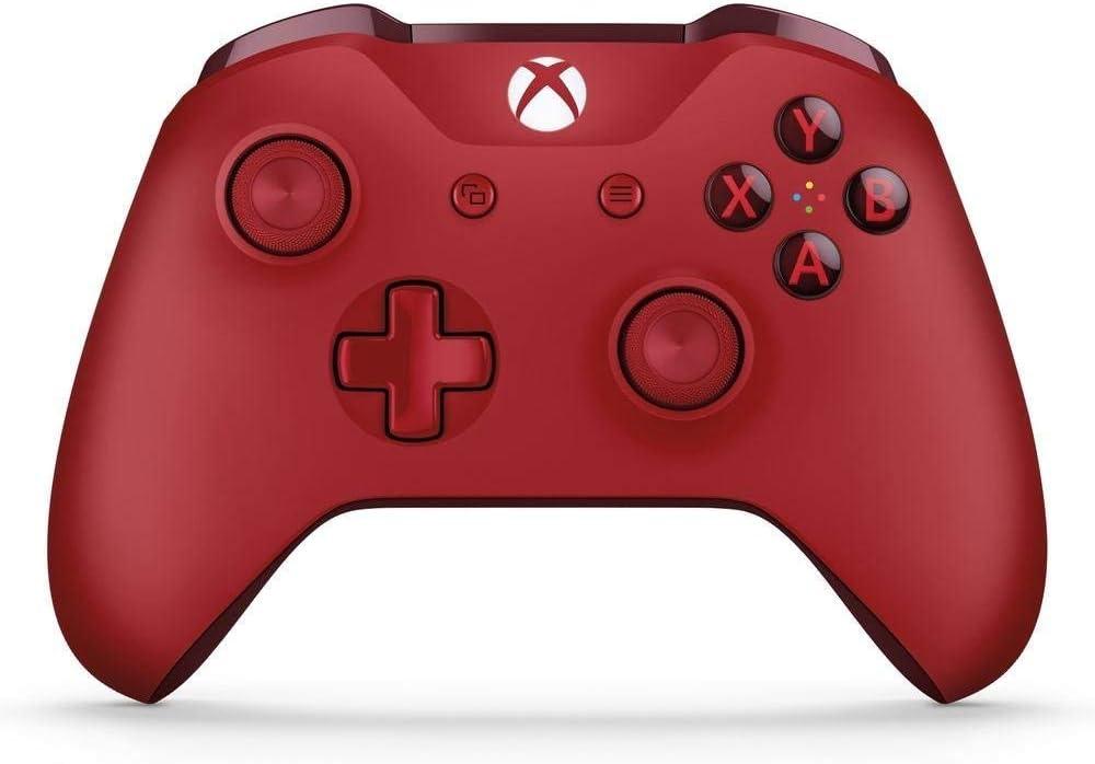 Microsoft - Mando Inalámbrico, Color Rojo (Xbox One), Bluetooth
