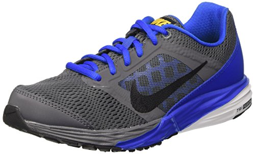 Nike Tri Fusion Run (Gs), Zapatillas de Running Para Niños Gris / Negro / Azul (Drk Gry / Blk-Hypr Cblt-Vrsty Mz)