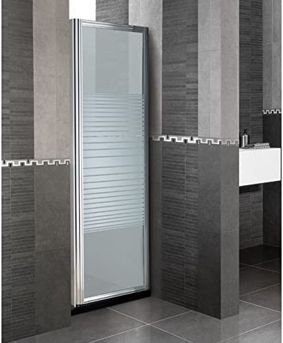 Tercera pared fija Mampara de baño de cristal serigrafiado 70 cm ...
