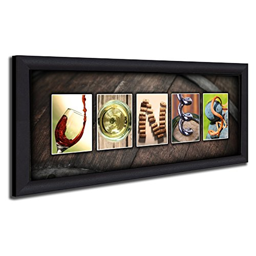 Personal Prints Framed Canvas - Personalized Wine Name Art - Perfect and unique customized gift for the wine lover or wine enthusiast. (Personalized Gift Wine)
