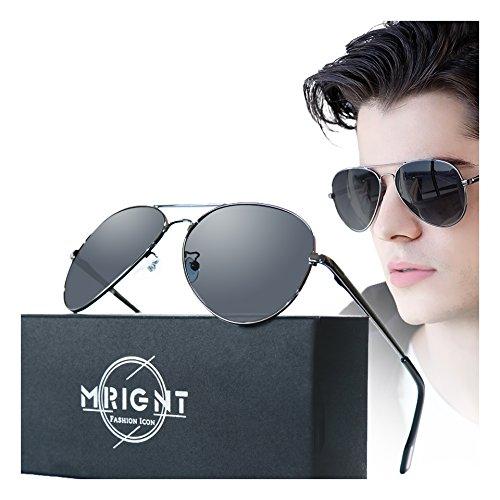 Men Classic Aviator polarized Sunglasses 100% UV Protection Driving Sun - Glasses Sun Aviator