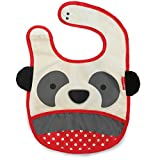 Skip Hop Zoo Little Kid and Toddler Tuck-Away Water Resistant Baby Bib, Multi Pia Panda