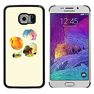 iKiki Tech / Estuche rígido - Nature Sunshine Tree Field Flowers - Samsung Galaxy S6 EDGE SM-G925
