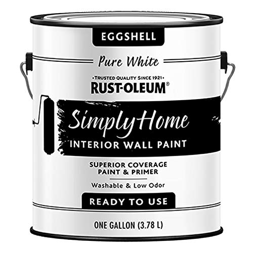 Rust-Oleum Simply Home Interior Wall Paint 332141 Simply Home Eggshell Interior Wall Paint, Pure White