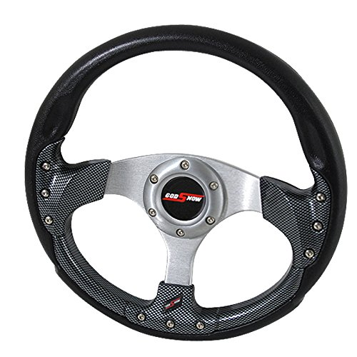Rxmotor 320MM 6 Bolts JDM Horn Button Steering Wheel Universal Fit Not Include Hub Adapter (CARBON FIBER)