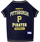 MLB PITTSBURGH PIRATES Dog T-Shirt, Medium. - Licensed Shirt for Pets Team Colored with Team Logos