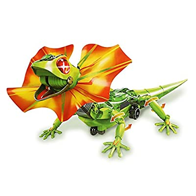 DIY Lizard Dragon, ONEVER Self-Assembly Infrared Sensor Robot Toy with Dual Color LED Eyes Children Gift