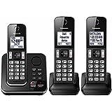 Panasonic KX-TG163K Dect 6.0 3 Handset Landline Telephone (Certified Refurbished)
