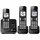 Panasonic KX-TG163K Dect 6.0 3 Handset Landline Telephone (Renewed)