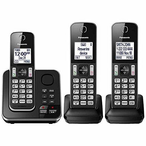 Panasonic KX-TG163K Dect 6.0 3 Handset Landline Telephone (Certified (Telephone Ring Signal)