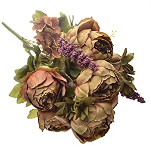 Artificial Peony Silk Flowers Bouquet Fake Flowers Home Wedding Decor 72