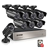 ZOSI 8-Channel 1080N HD Video Security System CCTV DVR 1TB Hard Drive + 8...