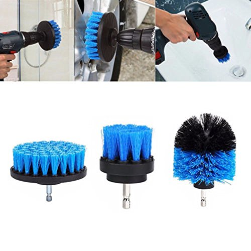 Drill Brush Scrub Brush Drill Attachment Kit - 3Pcs-Drill Powered Cleaning Brush Attachments - Time Saving Cleaning Kit - Great for Cleaning Pool Tile, Flooring, Brick, Ceramic, and Grout