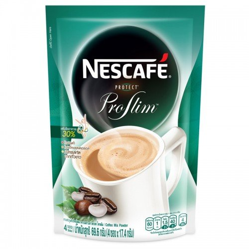 Nescafe Protect Proslim Pro Slim Diet Slimming Weight Control Instant Green Coffee With White Kidney Bean Extract Product of Thailand (10 Sticks)