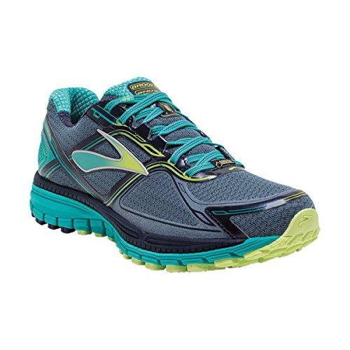 BrooksGhost 8 GTX - Zapatillas de Running Mujer Storm/Sharp Green/Ceramic