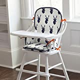Carousel Designs Navy Deer Woodland High Chair Pad