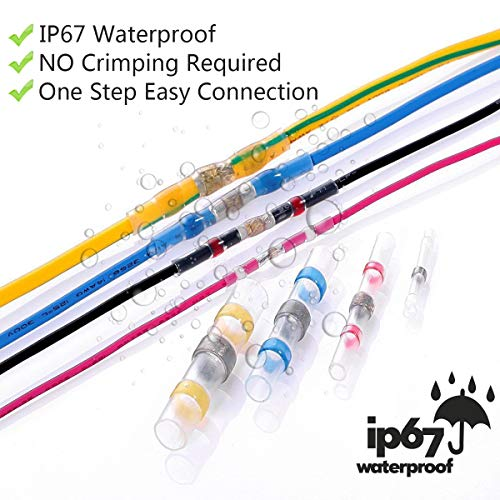 360 PCS Solder Seal Wire Connectors, Sopoby Heat Shrink Butt Connectors Solder Connector Kit, Automotive Marine Insulated Waterproof Electrical Wire Terminals by Sopoby (Image #5)