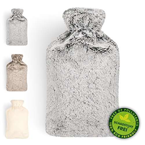 Blumtal Hot Water Bottle with Cover; Premium Faux Fur Cover; Large 2L...