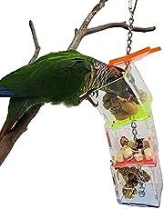 Lipiec przedstawia ptak wiszące jedzenie, zdejmowane 25 x 5,6 x 5,5 cm trudne do złamania ptak wiszące kucie zabawka, wiszące pudełko na paszę, do papużek ptaki domowe