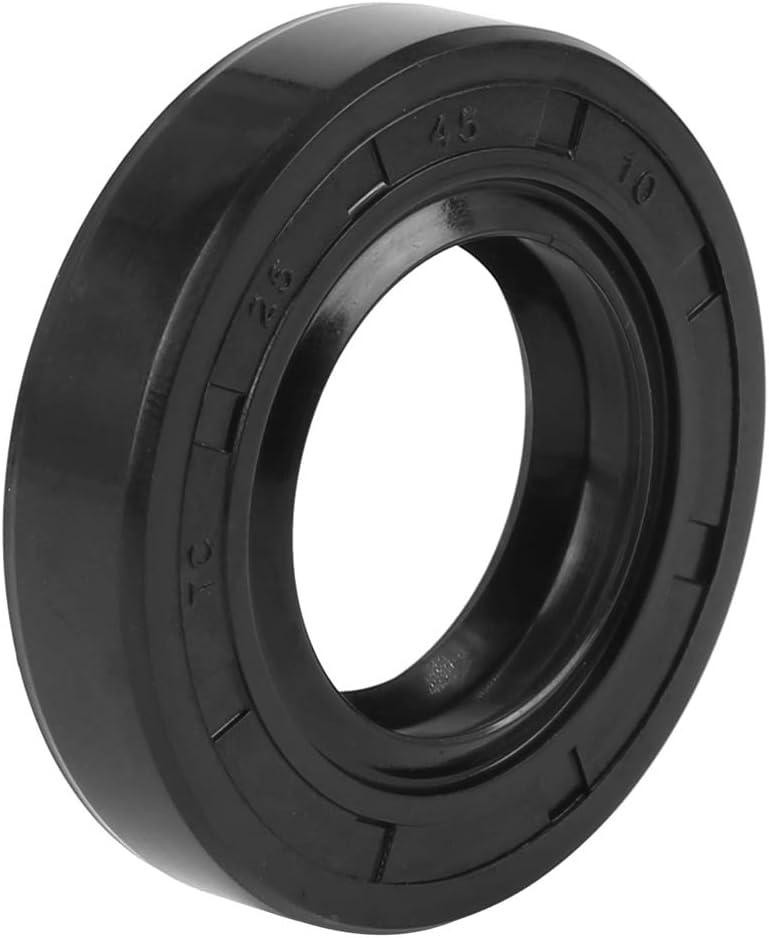 X AUTOHAUX 25mm X 45mm X 10mm Rubber Double Lip TC Oil Shaft Seal for Car