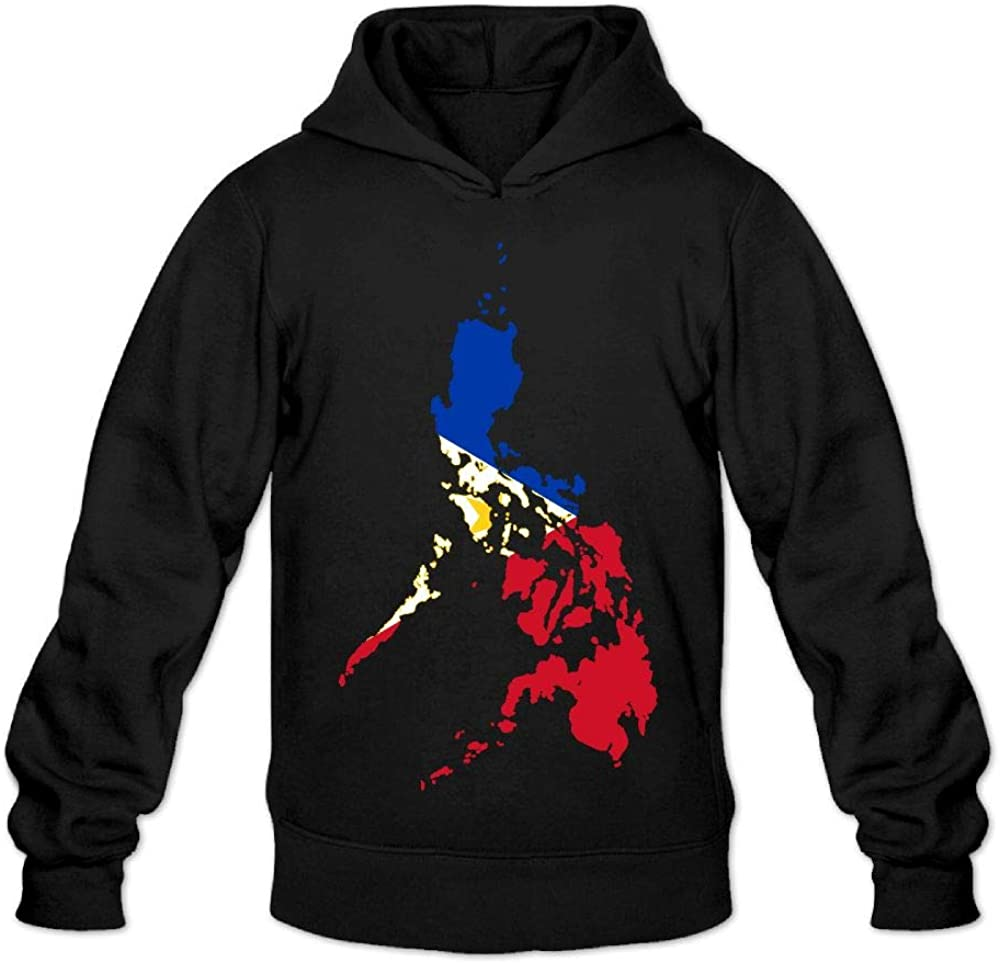 Aiw Wfdnn Mens Hoodie Sweatshirt Fashion Pullover Hooded Philippines Flag Map
