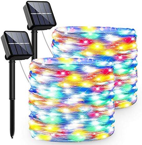 Luci Natale Solari Esterno,13.5M 120 LED Catena Luminosa Solare 8 Modalità Luci Led Ip65 Impermeabile Lucine Led Decorative Per Giardino Cortile Matrimonio Festa Natale Halloween (colore)