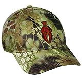 Kryptek Adjustable Closure Red Logo Cap, Highlander Camo