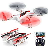 ElementDigital X56W RC Quadcopter Camera Control Drone Helicopter G-sensor WiFi FPV Pointing Flight Mode 2.4G 4CH 6-Axis Gyro Aircraft Foldable Arm (White)