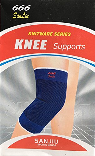 smart-one-pair-elastic-muscle-knee-support-sport-compression-knee-sleeves-blue