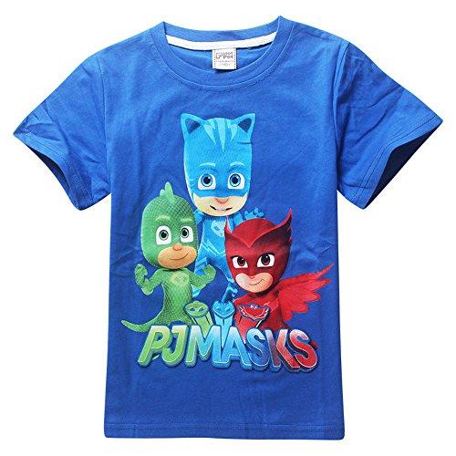 [Generic PJ Masks Custom T-shirt Personalize tshirt Birthday gift, Catboy, Gekko, Owlette (110,] (Disney Junior Pj Masks Costumes)