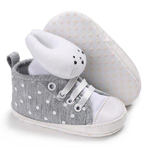 wuayi , Baby Mädchen Lauflernschuhe Beige beige Grau