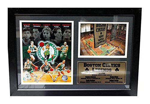 Encore Select 127-02 NBA Boston Celtics Framed Legends Larry Bird Print, 12-Inch by 18-Inch by Encore