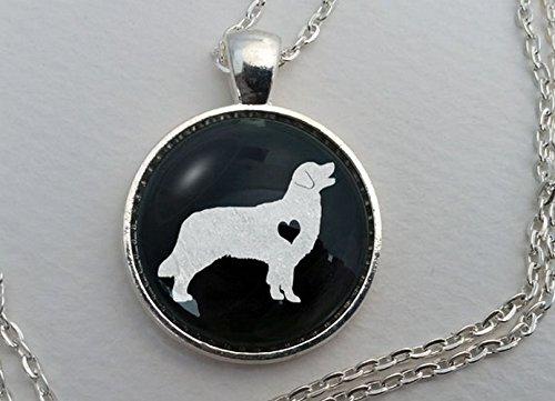 - Custom Golden Retriever Necklace, Glass Dome Pendant, Cute Dog Lover Gift, Round Art Charm Jewelry, Pet Memorial Jewellery, Golden Retriver