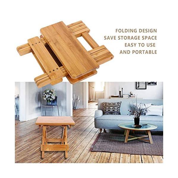 Alupre Bambou Pliant Tabouret Portable Maison en Bois véritable extérieur Pêche Chaise Pliante Chaise