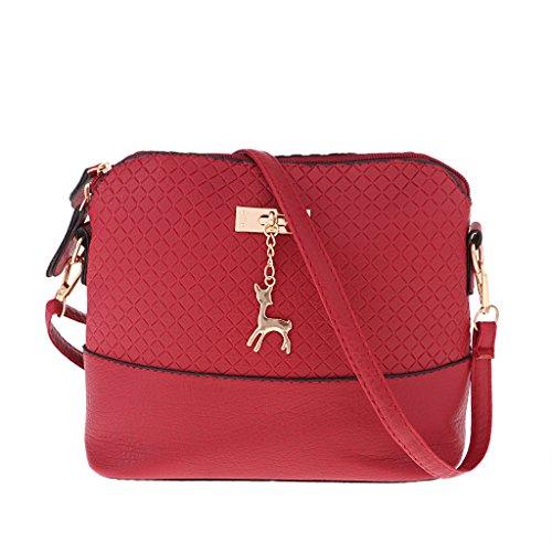 Bandoulière Rouge Sac Sharplace Fille Broderie À Main Sacoche D'embrayage Cadeau Femme Mini YvIf76gyb