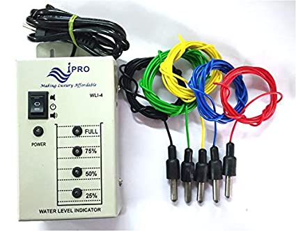 IPRO Water Level Indicator With Alarm On Tank Full (With 5 Sensors)