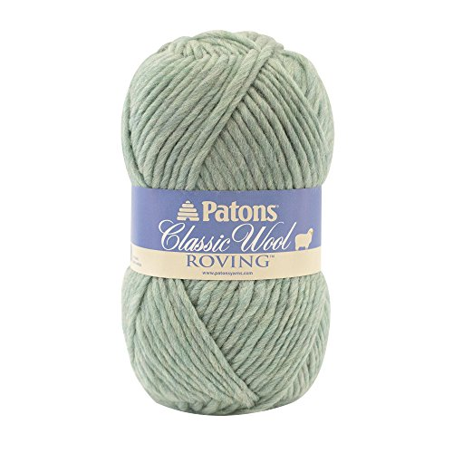 Patons  Classic Wool Roving Yarn - (5) Bulky Gauge 100% Wool - 3.5oz -  Low Tide -   For Crochet, Knitting & - Low Tide What A Is