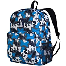 Wildkin Camo Crackerjack Backpack, Blue