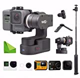 FY FEIYUTECH Feiyu WG2 Updated 3-Axis Wearable Waterproof Gimbal for GoPro Hero6/Hero5/GoPro Hero4/Session and Cameras with Similar Dimensions w/EACHSHOT Cleaning Cloth