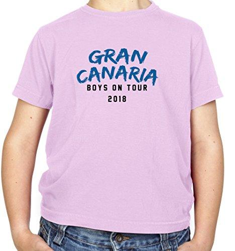 Dressdown Boys On Tour Gran Canaria - Kids T-Shirt - Light Pink - XS(3-4 yrs)