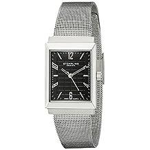 Stuhrling Original Women's 126L.12111 Classic Metropolis Prospect Swiss Quartz Black Dial Ultra Slim Watch