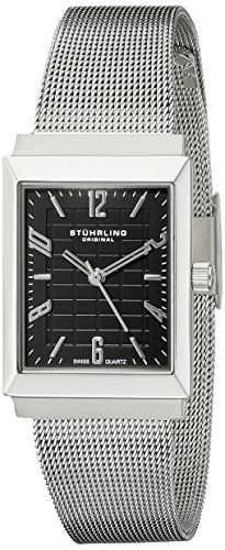 Stuhrling Original Women's 126L.12111 Classic Metropolis Prospect Stainless Steel Rectangular Watch