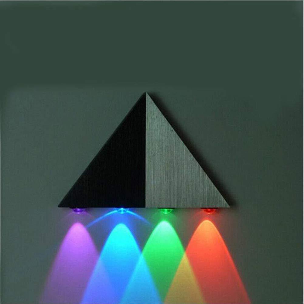 Weiß 8w WETRR Modernes Design Dreieck Wandleuchte Dekorative Beleuchtung LED Schlafzimmer Nachttischlampe Hotelbalkon,Weiß,8w