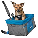 Kurgo 1724 Heather Dog Booster Seat for Cars with Seat Belt Tether, One Size, Heather Charcoal Gray