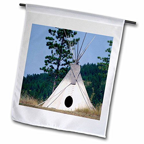 3dRose fl_94313_1 Garden Flag, 12 by 18-Inch, SD, Lakota Indian Teepee, Native American-US42 CMI0278-Cindy Miller -