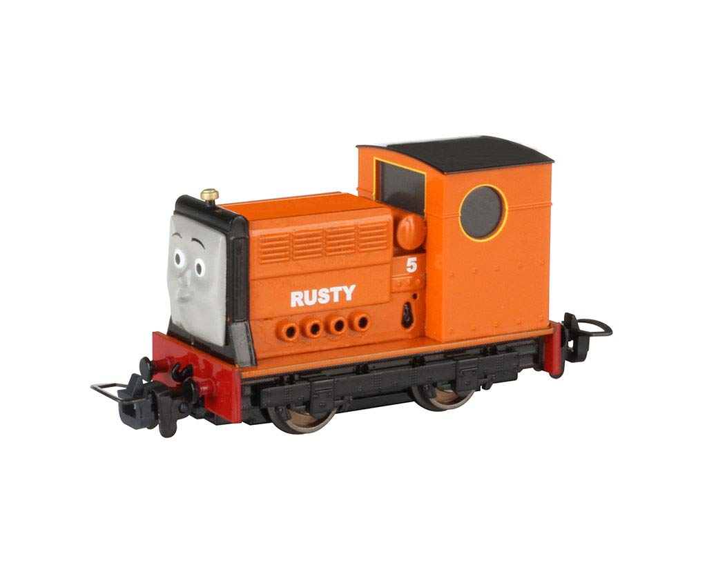 Bachmann Trains Thomas & Friends - Narrow Gauge Rusty (Diecast Construction) - HOn30 Scale - Runs on N Scale Track, Prototypical Orange